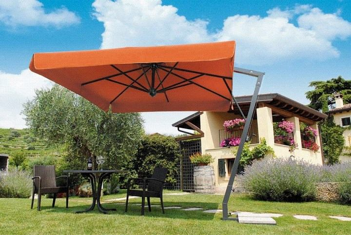 sombrilla sol aire libre color naranja ideas