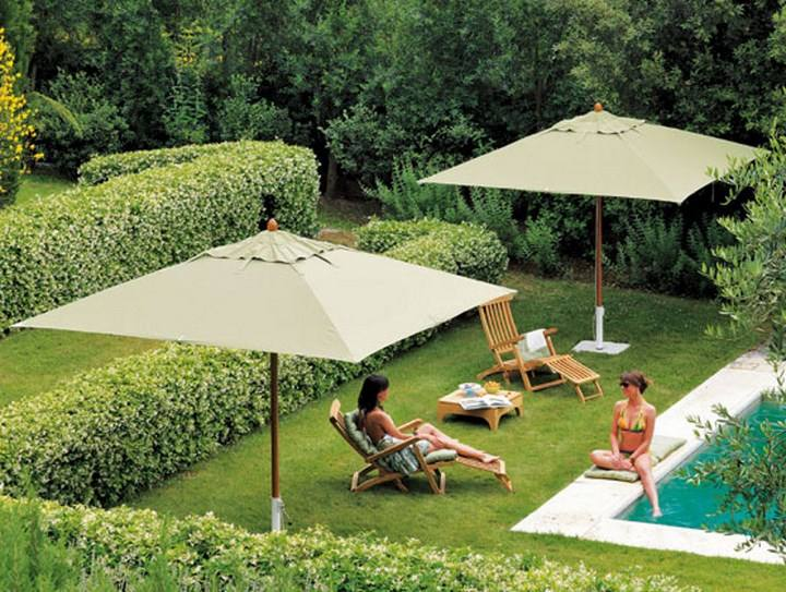 sombrilla sol aire libre jardin piscina ideas - Sombrillas Jardin
