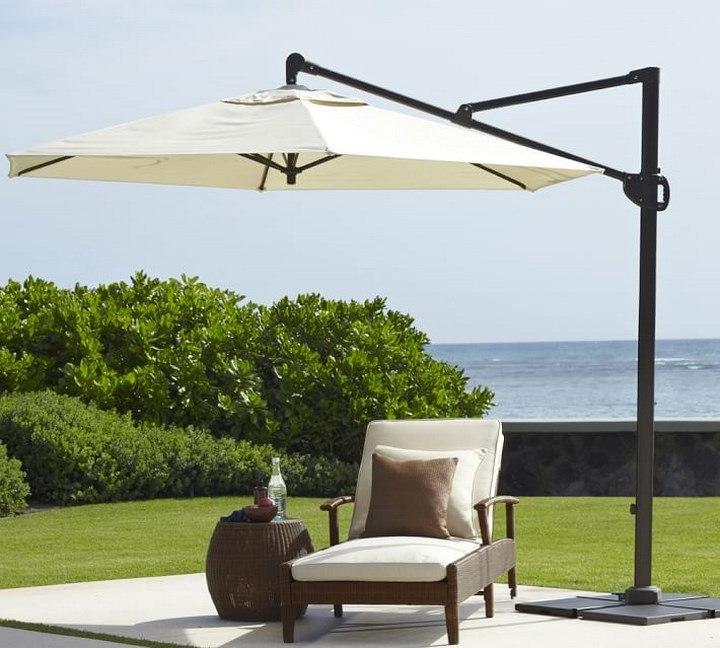 sombrilla sol aire libre rectangular solida ideas