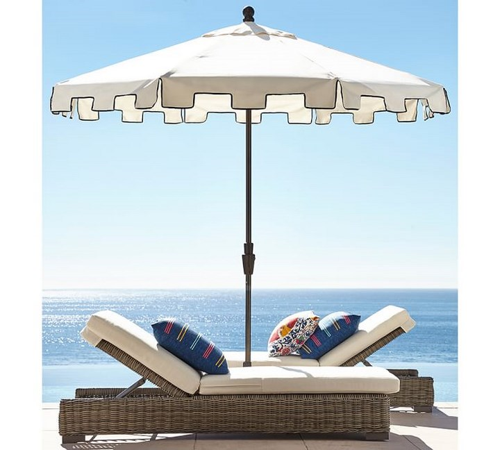 sombrillas sol aire libre tumbonas mimbre ideas
