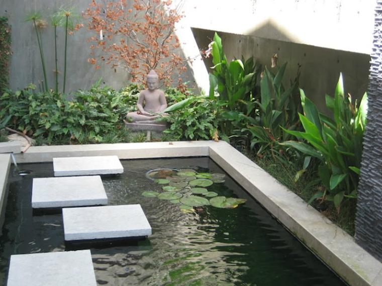 estanque moderno estilo zen