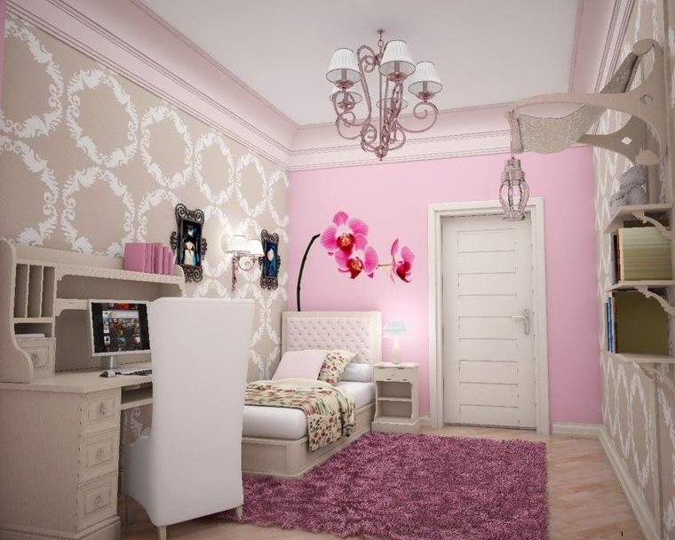 suaves habitaciones calidas infantiles rosa flores