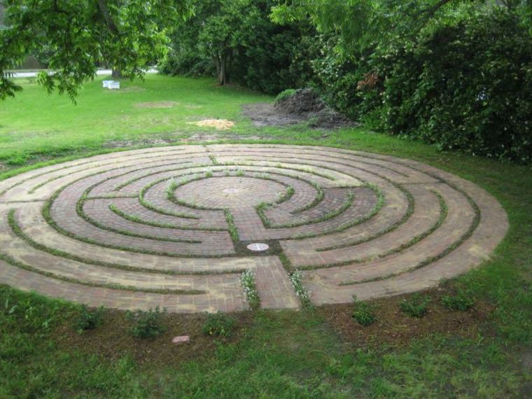 suelo jardin glorieta baldosas deco