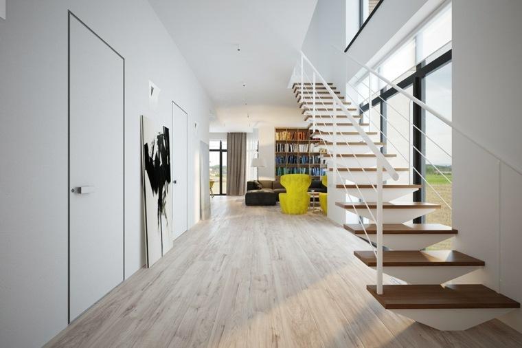 suelos madera claros esquinas paredes escaleras