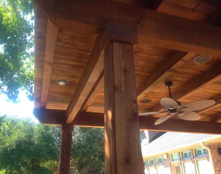 tejado madera natural maciza