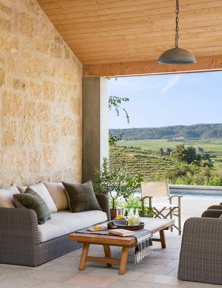 terraza amplia muebles madera JUTE ideas