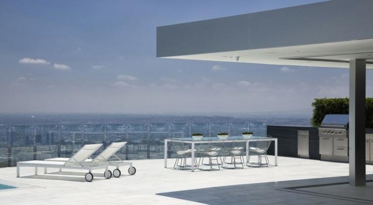 terraza amplia valla cristal McClean Design ideas