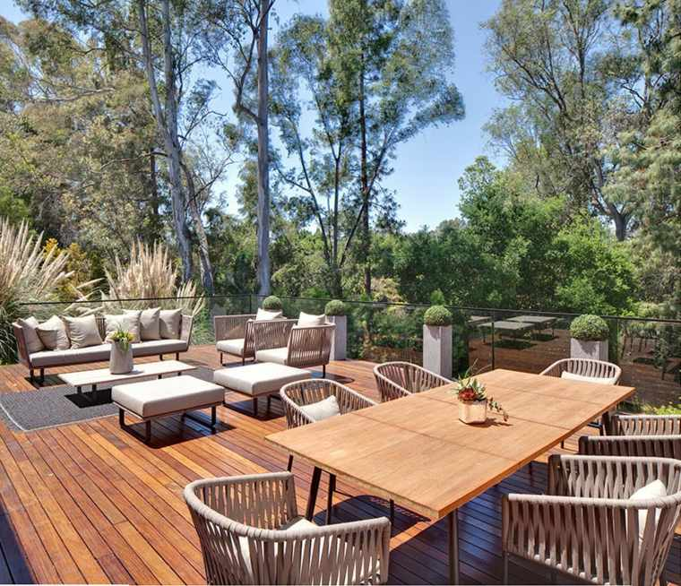 terraza elegante moderna muebles disneo ideas