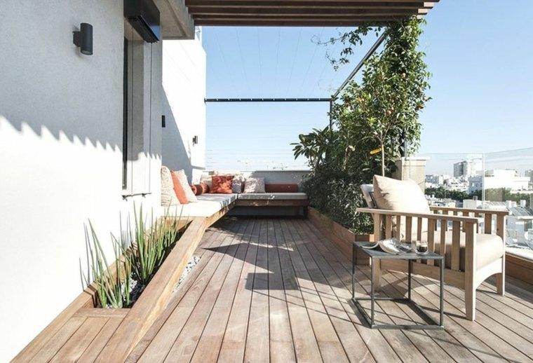 terraza diseño estilo minimalista