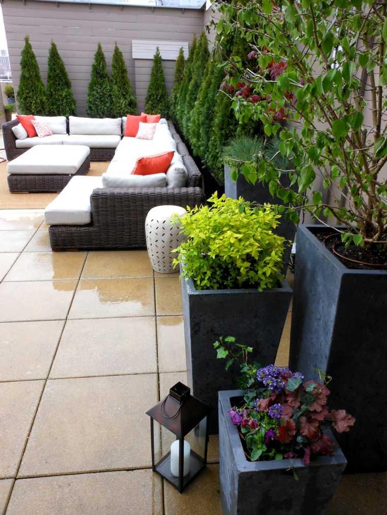 jardineria terraza atico jardineras modernas