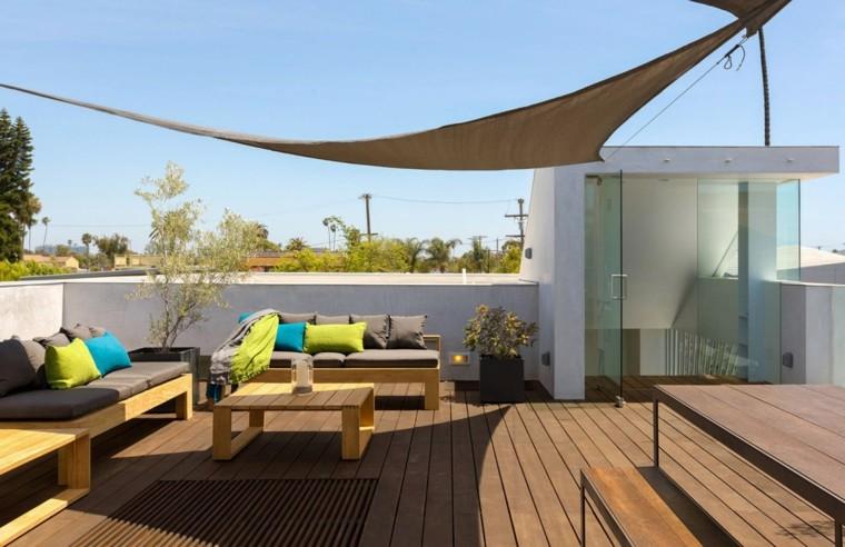 Terrazas exteriores modernas 25 opciones de dise o - Jardines exteriores de casas modernas ...