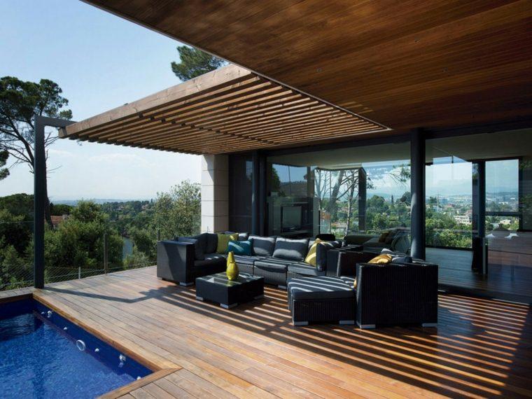 Terrazas exteriores modernas 25 opciones de dise o - Estufas exteriores para terrazas ...