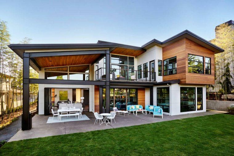 Terrazas exteriores modernas 25 opciones de dise o for Diseno de casas interior y exterior