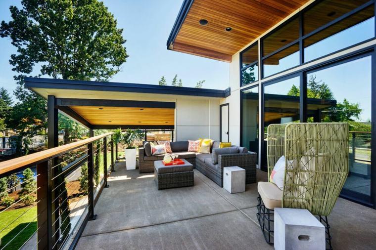 Terrazas exteriores modernas 25 opciones de dise o for Muebles estilo mexicano contemporaneo