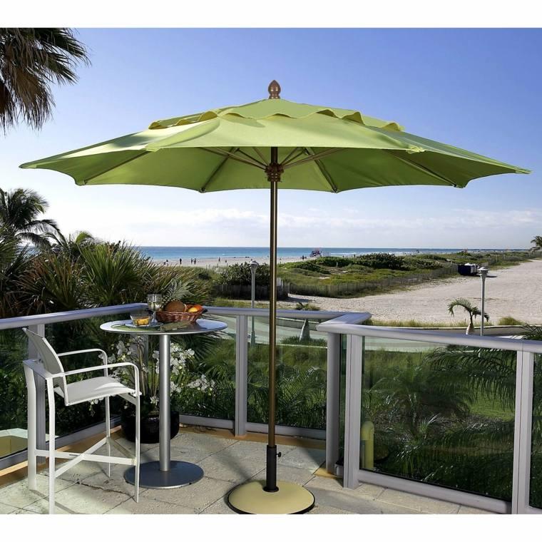 verdes sombrillas ideas estilos playas