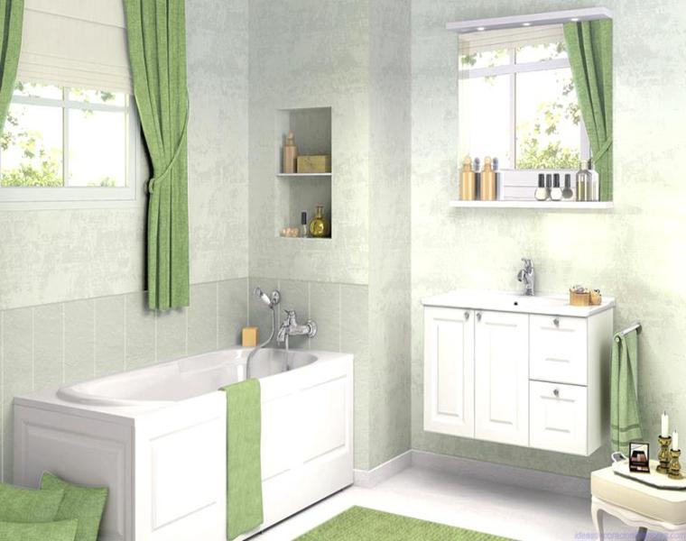 Accesorios Baño Verde:Baños de colores – las tonalidades de moda para el año 2016 -