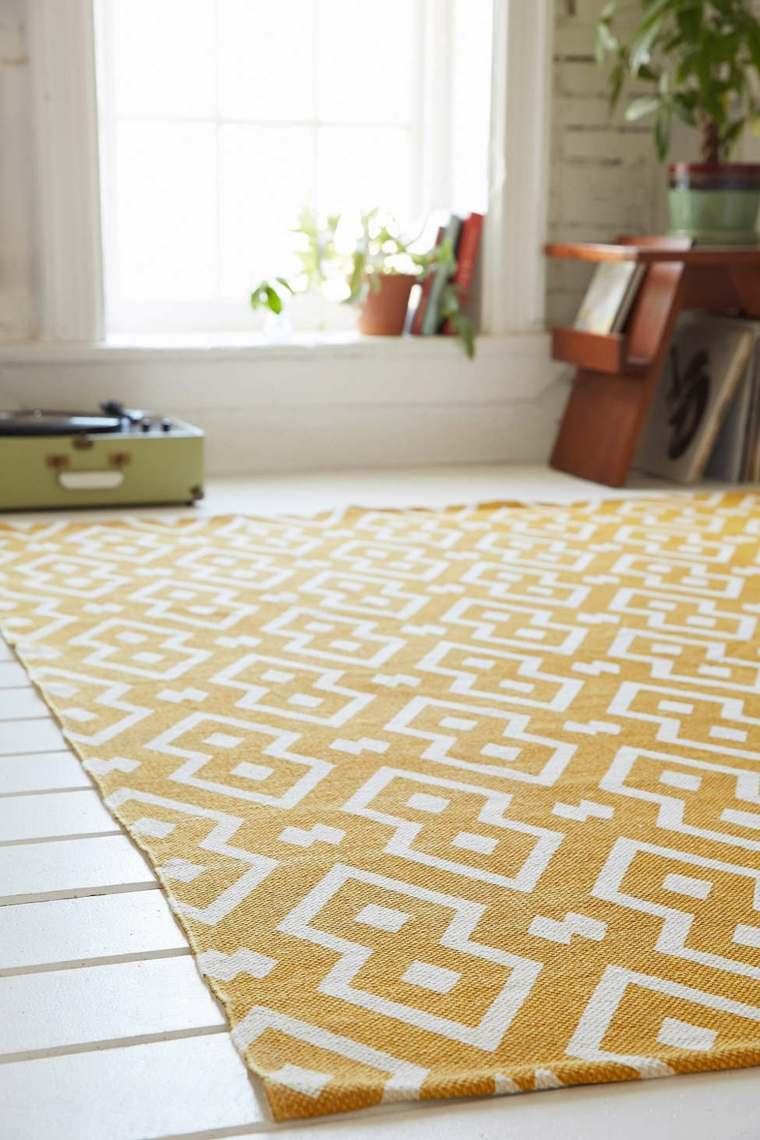 alfombras efectos amarillo naranja colores