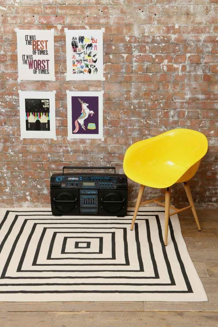 alfombras efectos sillas amarillo amarillo