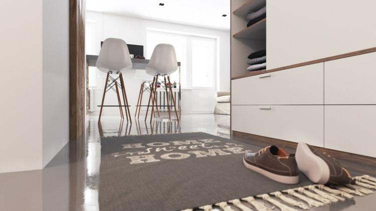 alfombras lineas gavetas letras zapatos