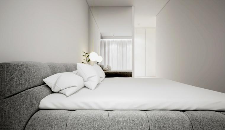 almohadones esferas habitacion dormitorio espejos