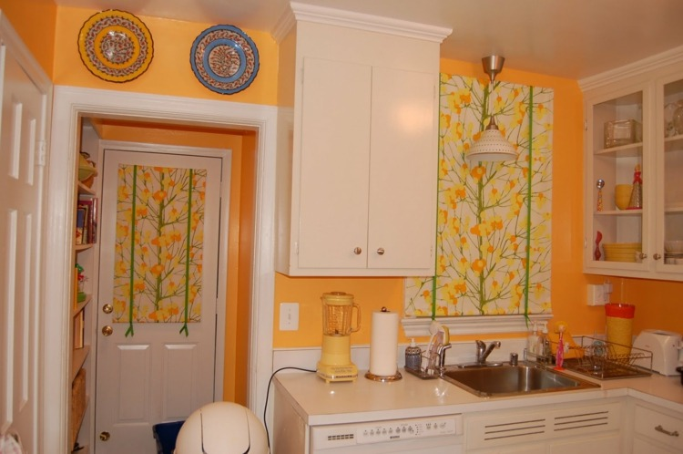 amarillo olores naranja platos blanco