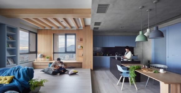 Apartamento moderno para una familia con niños pequeños