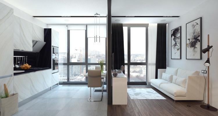 apartamentos espacio muros correos salas maderas
