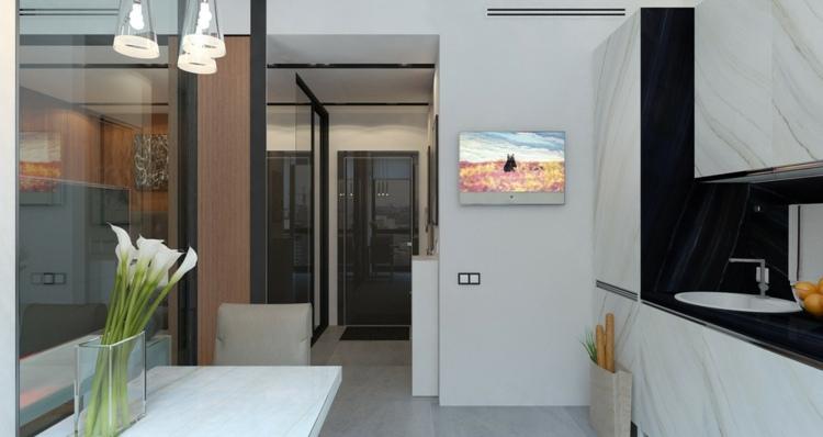 apartamentos espacio negro cojines colores