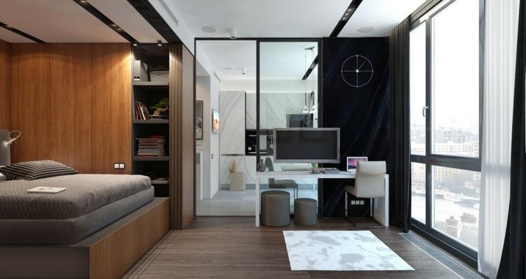 apartamentos espacio salas estilos paredes maderas
