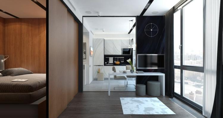 apartamentos espacio separadores alfombras lineas