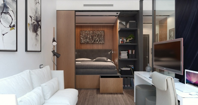 apartamentos espacio sofa estudios lamparas
