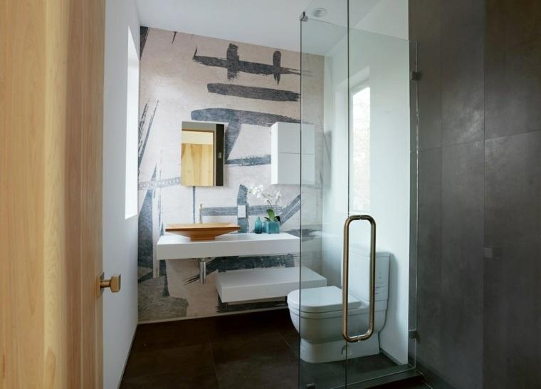 diseño aseo moderno puerta vidrio