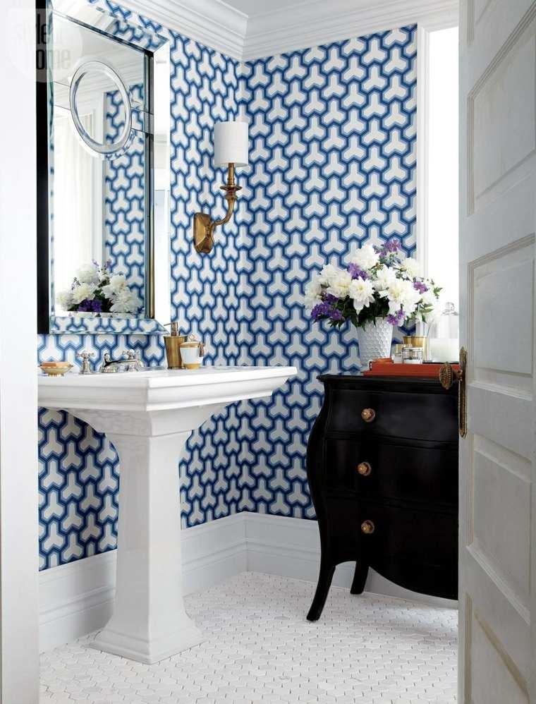 Azulejos Baño Vintage:Originales azulejos de baño con motivos