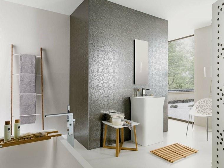 Azulejos Baño Seguro:Azulejos para baños con toques metálicos -