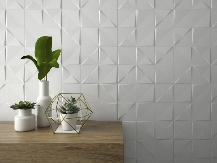 azulejos para banos modernos metalicos efecto blanco ideas
