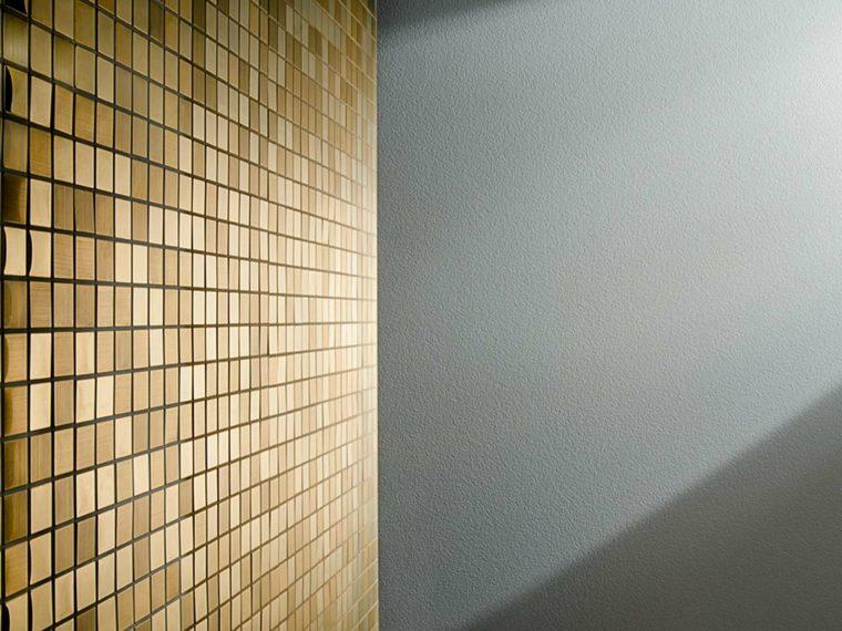 azulejos para banos modernos metalicos oro brillante ideas