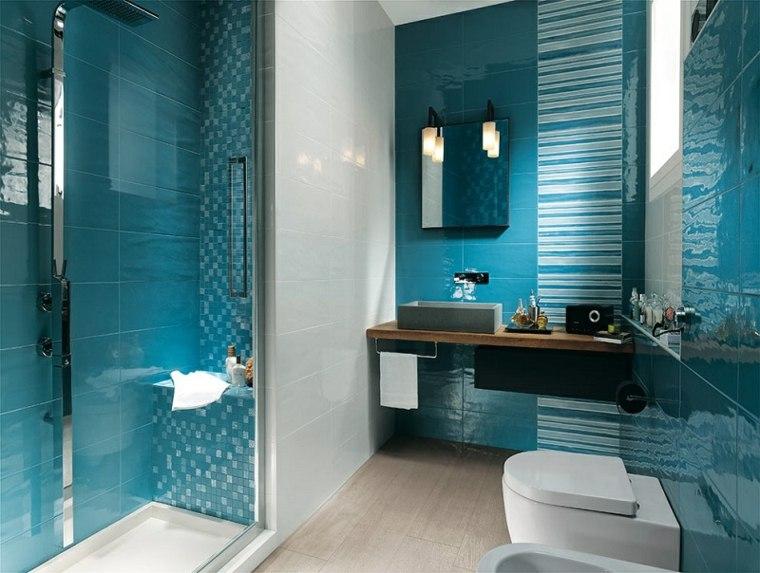 Ba os peque os modernos descubre las nuevas tendencias for Azulejos color azul