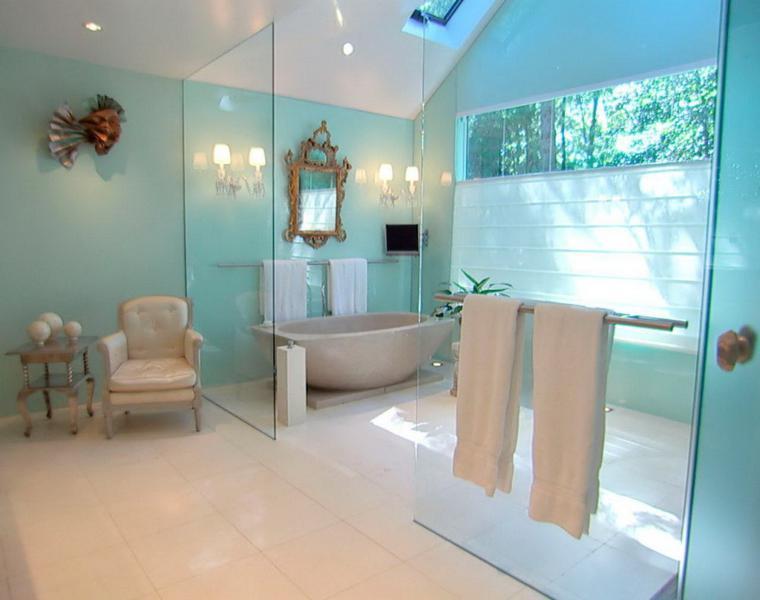 baños de colores modernos