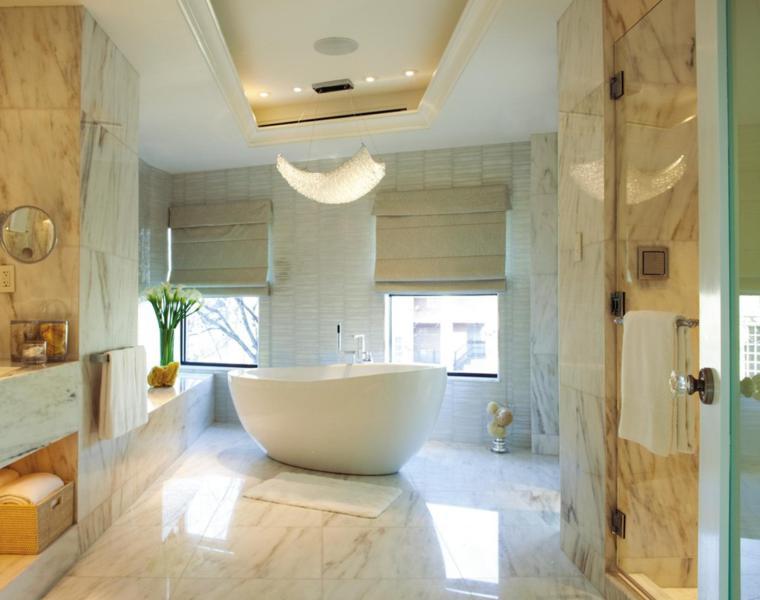 cuarto bano marmol diseno lujoso