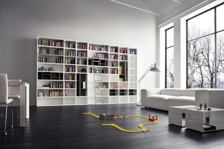 Librerias para sal n 48 fotos que lograr n inspirarte for Muebles bibliotecas para living