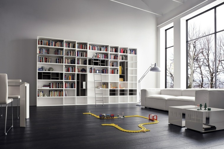 Librerias para sal n 48 fotos que lograr n inspirarte for Casa moderna wallpaper