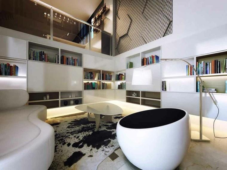 bibliotecas modernas compartimentos salones