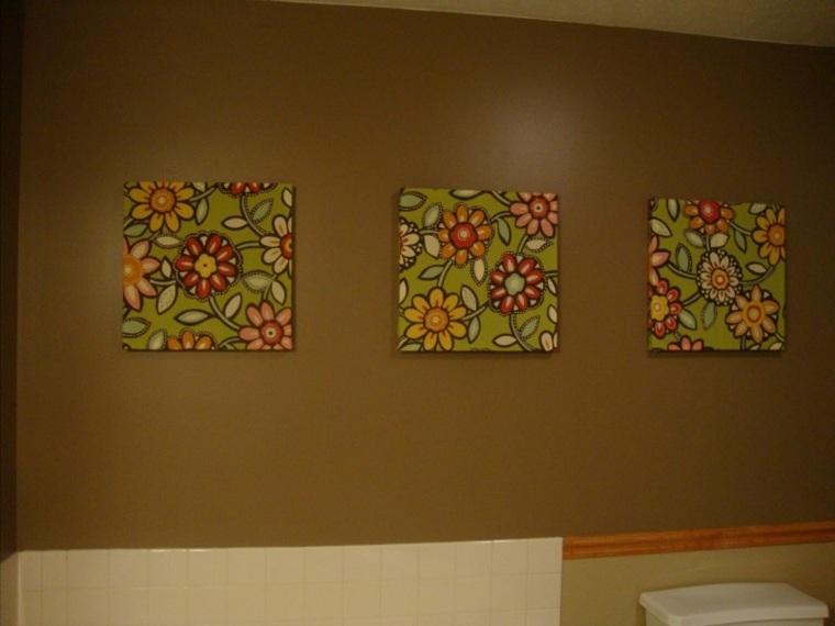 Tapices y decoraciones de pared con textiles 30 ideas - Cuadro para pared ...