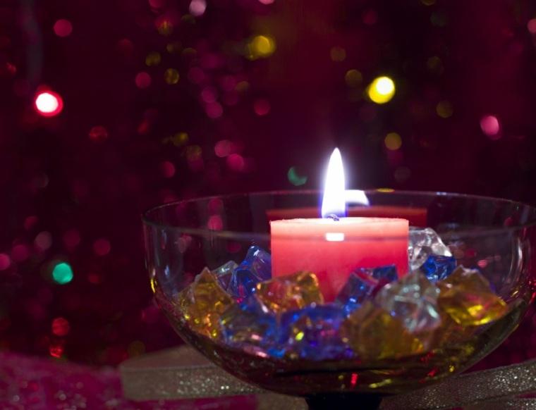 decoración para mesa de navidad