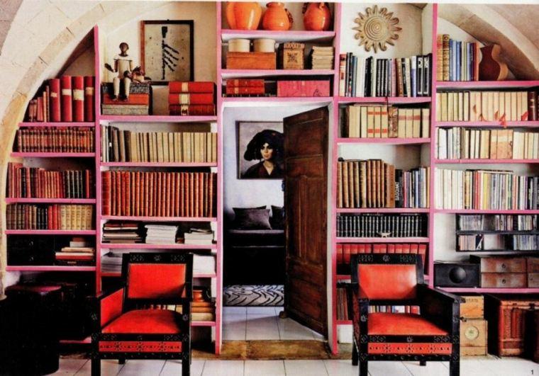 bonita decoración biblioteca salon