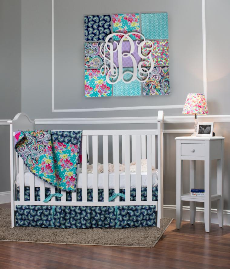 Tapices y decoraciones de pared con textiles 30 ideas - Decoraciones para bebes ...