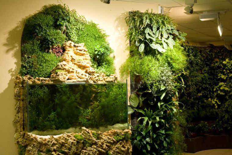 bonita decoración paredes plantas