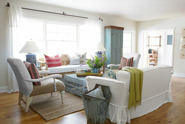 bonita decoración salon muebles