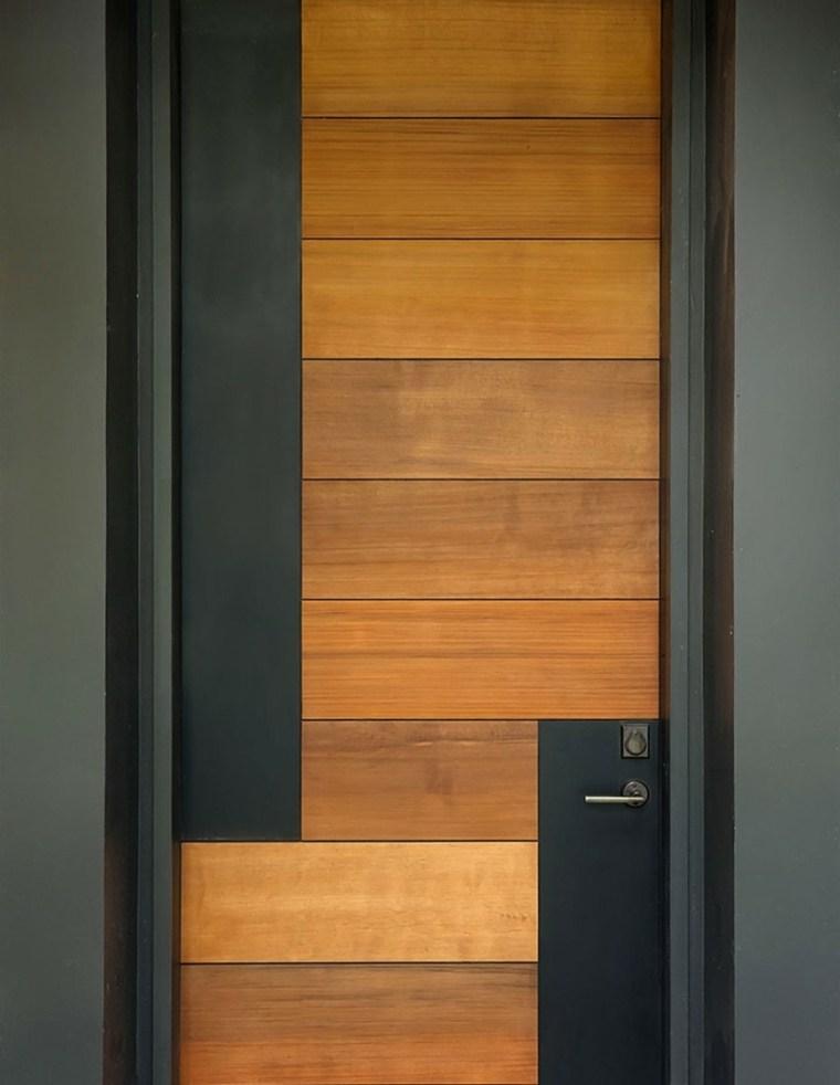 Puertas de entrada de dise o moderno rivas sanchez - Puertas de calle de madera ...