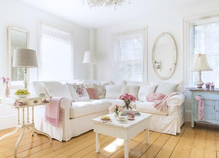 bonita sala estar estilo vintage